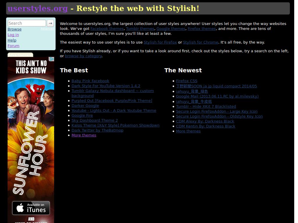 Dark Userstyles - FreeStyler WS