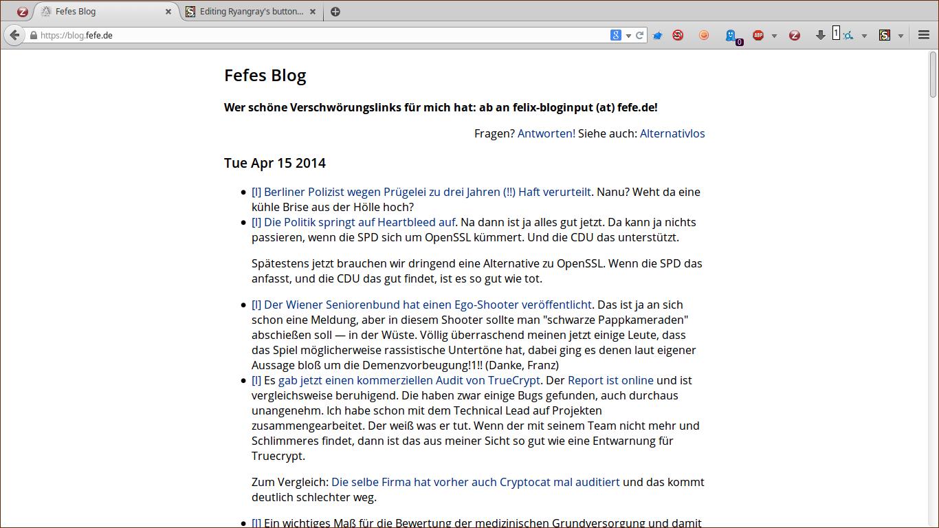 Ryangray's buttondown.css for Fefe's Blog   FreeStyler.WS