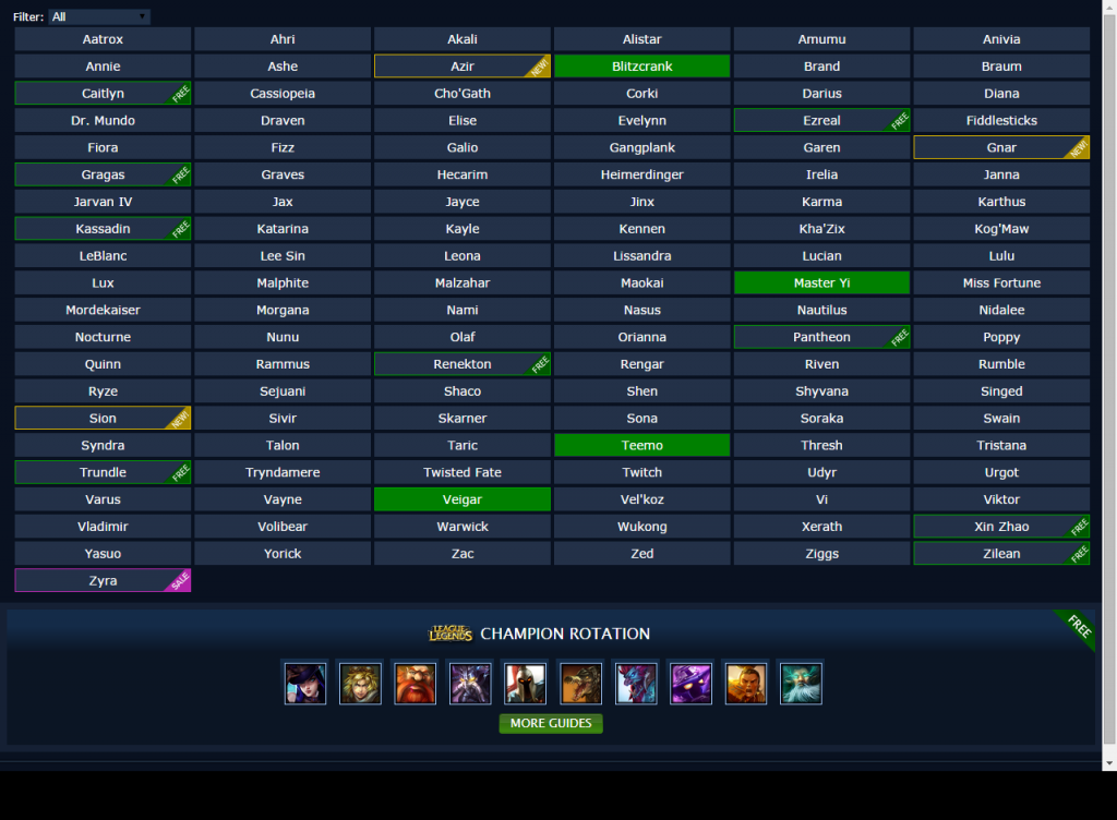 Mobafire League Of Legends Champions Page Oct 2014 Freestylerws