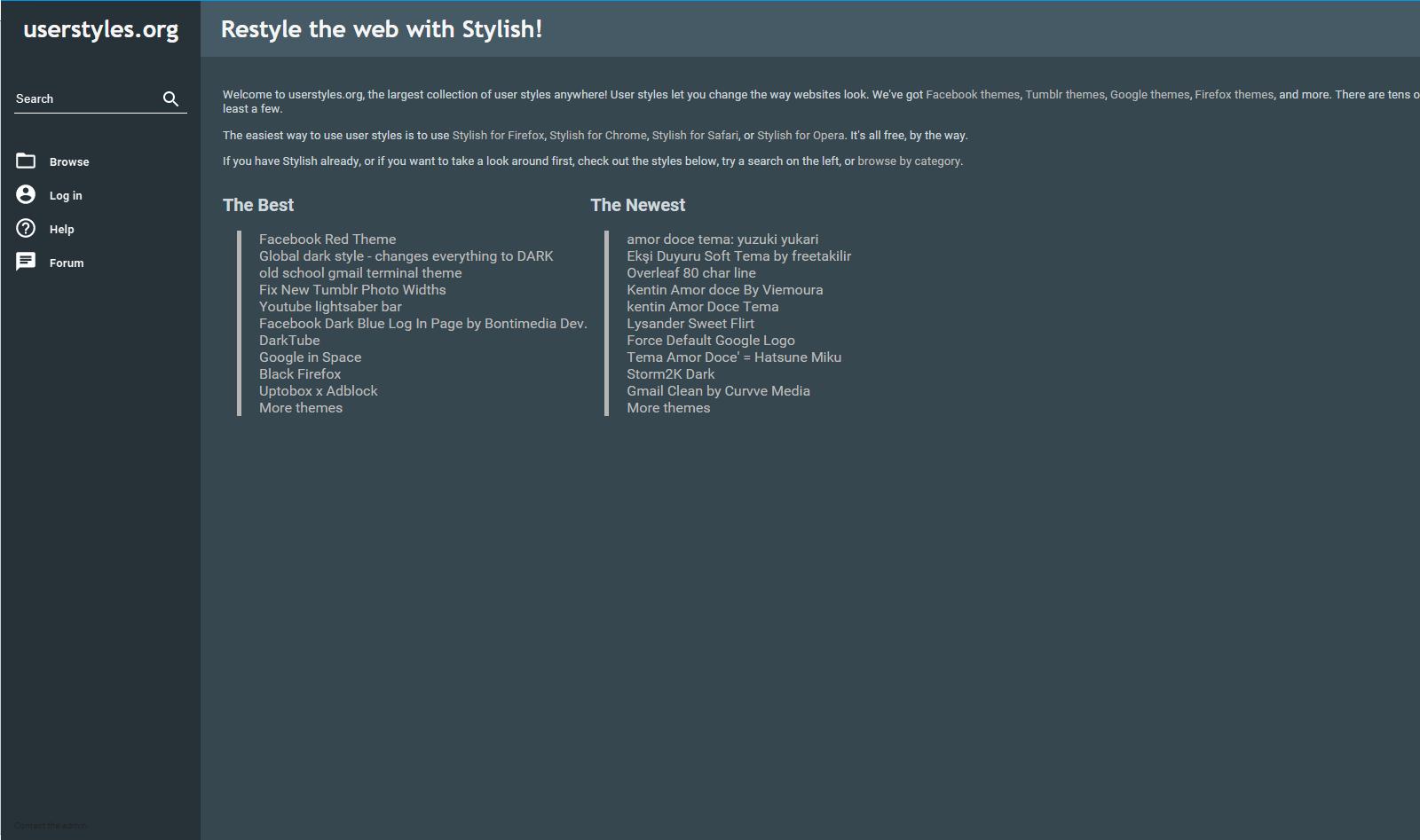 Userstyles Flat Dark Blue [Firefox] - FreeStyler WS