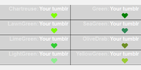 Sample Green - color names