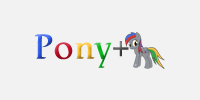 Reversed Pony+ Logo
