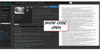 Show Code (top Button) - OPEN