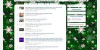 Christmas Background w/ White Theme