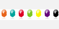 38716 Rainbow Bape Tumblr Icons //