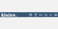 Klaine logo with Klaine dashboard icons
