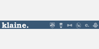 Klaine logo with Klaine dashboard icons