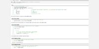 Screenshot of the new code headers