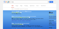 Searching 'blue' in Google with style