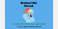 Brohoof threads instead of appreciating