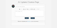 New Creation Page
