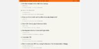 Hacker News main page