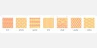 Orange and Yellow Square Icons