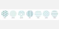 Blue and Grey Circle Icons