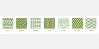 Forest and Mint Green Square Icons