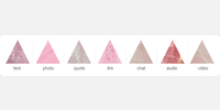 Rose Quartz Post Icons