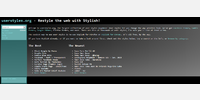 Userstyles front page.