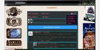 External site using Disqus chat. User menu focused