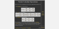 Vector Calculus Operations