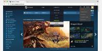 Homepage: redesign header, new popups