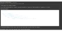 default code section