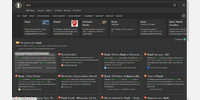 Various style options with DuckDuckGo's dark theme