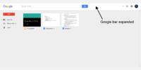 Expanded Google bar