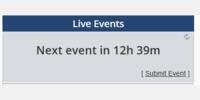 Next event text darkened