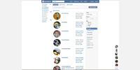 Friends list page