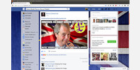 Facebook - widok czytania postu