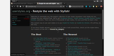 Main style screenshot