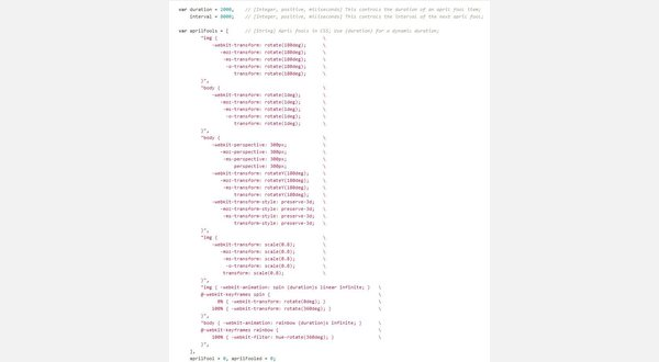 Default tab size (8 spaces)
