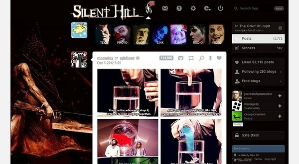 Silent Hill logo on PH background