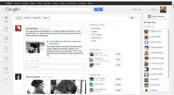 Google Plus - Hide Share Bar
