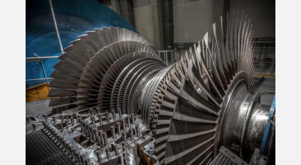 Turbine bei der Reparatur.