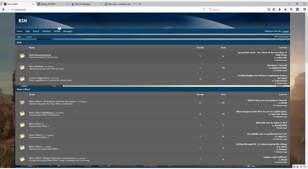 Main board page