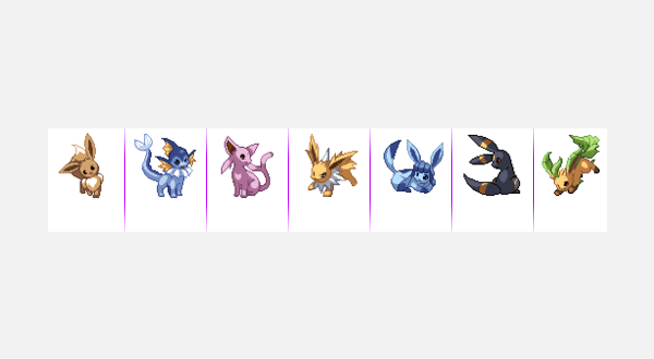 Eevee-lutions and tumblr post icons