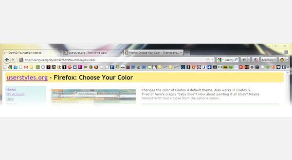 RGBa gradient