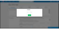 Blurry background in a modal.